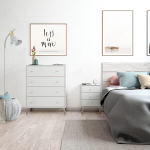Mesita con 3 cajones Dreams en dormitorio